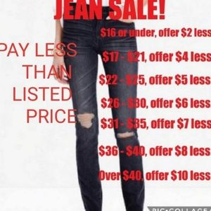 🎉🎉JEAN SALE, MEN AND WOMEN!🎉🎉